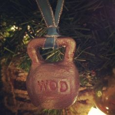 CrossFit Ornament. Kettlebell.