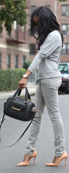 Grey chic - shades of grey, perfect street fashion inspiration