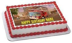 Chuggington Trains 1 Edible Birthday Cake Topper OR Cupcake Topper