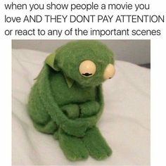 This is totally me, but not just with movies, books and music too