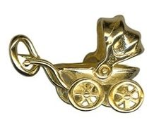 Charm - SMALL PRAM - Sterling Silver or 9ct Gold