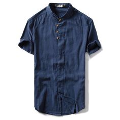 Mens Collared Pure Color Short Sleeve Plus-Size Summer Multi Pockets Dress Shirts