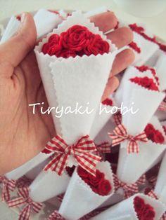felt rose bouqets    nişan şekeri /magnet