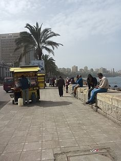 #Egypt, #Alexandria, #Midan Saad Zaghloul square, #Mediterranean, #sky, #clouds, #landscape, #people, #egyptian, #photography, March, 2018