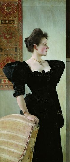 Gustav Klimt -- 'Portrait of Marie Breunig'