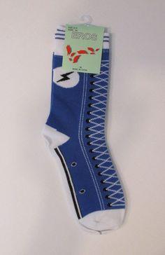 Womens Eros Crew Sneaker Pattern Socks. Sz. 9-11. Novilty Socks. NWT BLUE #Eros #CrewSock