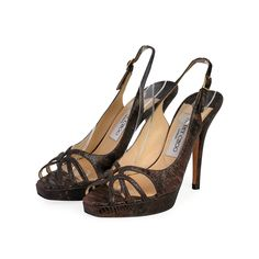 These Jimmy Choo sandals are designed to impress! Show the world your great sense of fashion with this elegant pair.  ITEM CONDITION: Pre-owned – Very good condition.  SUPPLIED WITH: These shoes are supplied with their original Jimmy Choo dust bag.  SIZE: 35.5 – (UK size 3)  THE LEFT SHOE: Very good condition – With normal signs of wear.  THE RIGHT SHOE: Very good condition – With normal signs of wear. Slingback Sandal, Jimmy Choo, Dust Bag, Peep Toe, Shoe, Pairs, Signs, Sandals, Elegant