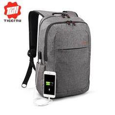 Canvas Men's Backpack Bag Brand 14.1Inch Laptop