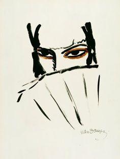 KEES VAN DONGEN - 'L'ESPAGNOLE' - Litho uit het album Femmes, 1927. Editie: 120 ex. genummerd in potlood. Gesigneerd in de steen. Afm.: 52 x 37,3 cm. Illustrated in Juffermans 'Kees van Dongen - The Complete Graphic Work' Nr. JL 10.