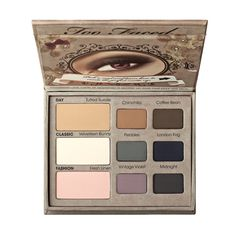 Too Faced Matte Eyeshadow Collection.  As far as I know, this is their only vegan palette.