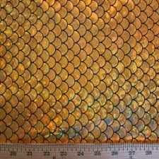 Big Fish Scale Gold Stretch Spandex 58 Inches Wide Fabric by The Yard (F. Dragon Skin, Fish Scales, Big Fish, Amazon Art, Sewing Stores, Fabric, Yard, Spandex, Image