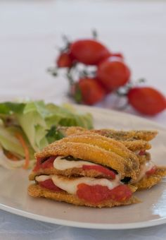 Appunti di cucina di Rimmel: Torretta di alici provola e pomodorini
