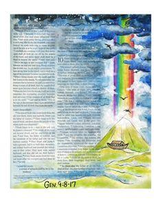 Promise Keeper Bible Journaling Art Print door ruthonesixteen