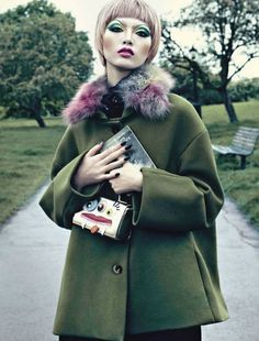 Beauty by Emma Summerton for Vogue Italia August 2012 4, makeup Alex Box