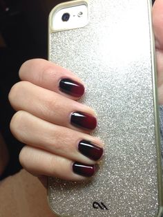 CND Shellac Decadence over Rock Royalty with Black Pigment Additives faded up from cuticle.