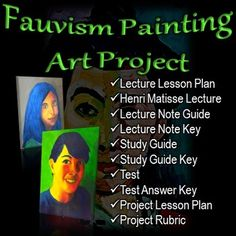 Fauvism Painting Art Project: Teach high school painting students about Henri Matisse, and then show them how to make a Fauvist style self-portrait.