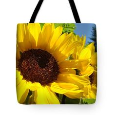 Yellow Sunflowers Art Prints Summer Sunflower Tote Bag by Baslee Troutman
