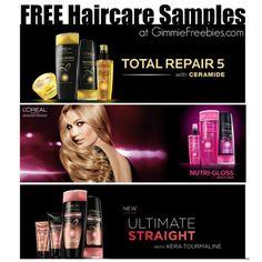 Free L'Oreal Paris Sample - Nutri-Gloss, Total Repair & Ultimate Straight ** New ** - http://gimmiefreebies.com/free-loreal-paris-haircare/