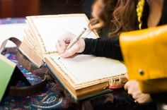 Harry Potter themed wedding (so well done!) SigningTheMonsterGuestBook