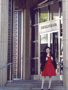 """Breakfast with Tiffany: coming soon to http://blog.lauren-elainedesigns.com (pictured: the """"Tiffany"""" dress by Lauren Elaine Black Label)"""
