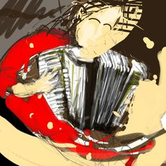 accordion player sketch Accordion Instrument, Piano Accordion, Tango, Cornelius, Alchemy, Art Ideas, Sketch, Deco, Box