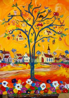 The Optioneer JM : Habit, ritual or superstition: what belongs in a . Tree Of Life Art, Tree Art, South African Artists, Africa Art, Naive Art, Fantastic Art, Art Pictures, Unique Art, Folk Art