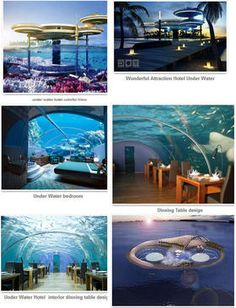 #Dubai #Hotel Under #Water - Best Branded #Luxury Hotel  Deep Ocean #Technology Inc. is designer for making an #underwater hotel in Dubai. Half of the hotel building will be inside water,   around 21 stories which will be deep in the water. Its means that now you can take dinner and spend a night inside ocean with #sea life.   #Dream will be come true soon; so you can enjoy an #adventure night inside the water