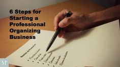 Professional Organizer Geralin Thomas created a comprehensive list for new professional organizers starting a professional organizing business. Download.