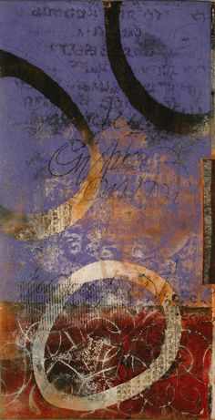 "Up for Air, by Anne Moore, monotype, 20""x 10"""