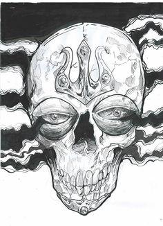 skull on Behance