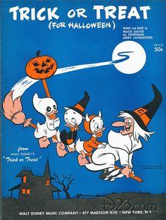 Walt Disney's Halloween Hilarities Theatrical Poster (1953) | Walt ...