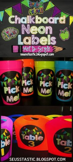 Need to get your classroom organized? These black and bright labels are gorgeous!
