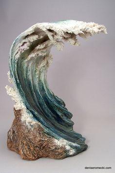 Waves - Denise Romecki - Ceramic Sculpture