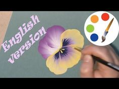 One stroke, Paint pansies, Como Dibujar Flores, Анютины глазки двойным мазком, irishkalia - YouTube