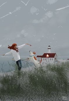 Winter Afternoon by the coast by PascalCampion on DeviantArt