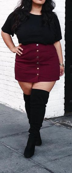 winter outfits plus size Curvy Plus Size Fashion fr Frauen - - groe Gren Mode fr Mollige Look Plus Size, Curvy Plus Size, Plus Size Women, Curvy Fashion Plus Size, Plus Size Hair, Plus Size Style, Plus Size Fasion, Plus Size Fashion For Women Summer, Plus Size Tumblr