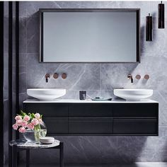 Is To me | Black and grey bathroom