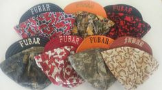 Joshua Mutch ordered these hats. Love the FUBAR embroidery. Embroidery, Love, Hats, Amor, Needlepoint, Hat, Drawn Thread, Needlework, Crewel Embroidery