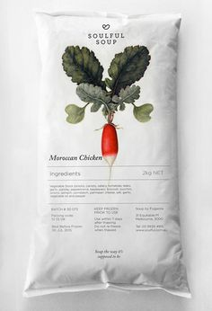 Moroccan Chicken. Soulful Soup food packaging // Truly Deeply