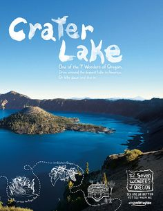 The seven wonders of Oregon, USA Oregon Camping, Oregon Travel, Travel Ads, Travel Posters, Crater Lake Oregon, Oregon Usa, Seven Wonders, Scenic Photography, Travel Design