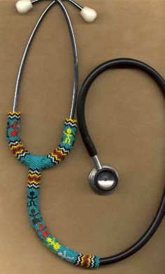 Not sure this would be sanitary, but it's cute.  Beaded stethoscope cozy