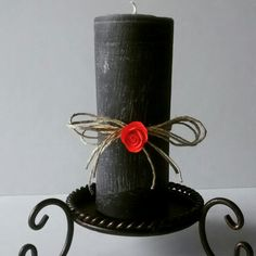 Beautiful, elegant handmade candle, from Marbea Candles.