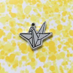 Origami Crane Charm | Antique Silver Charms | Jewelry Making Supplies | Pendant Bracelet | Earrings Zipper (15*22mm) 1pc CHB01 by EverythingHandCraft on Etsy