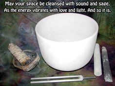 "Crystal Guidance Article: Crystal Cleansing Methods — ""May your space be cleansed with sound and sage. As the energy vibrates with love and light. And so it is."""