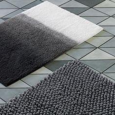 Black Cotton Bath Mat Set Bath Mat Bath And Dorm - Black cotton bath mat for bathroom decorating ideas