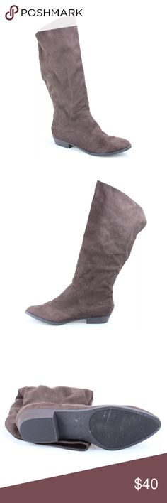 """NEW Nordstrom INDIGO RD Faux Suede Knee High Boots New INDIGO RD. New Faux Suede Synthetic Brown Knee-High Boots!  Size 8M. Soft material, great for Spring/Summer! 16"""" Circumference, 1"""" Heel height, The shortest part of the boot (back) is 10 1/2"""" Tall & the tallest is 16"""". No Tags/Box. 🌹 Don't forget to look at my other items! 💕BUNDLE & $AVE💕Extra Shipping Fees Apply if over 5 lbs. Indigo Rd. Shoes Over the Knee Boots"""