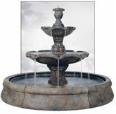Henri Finial Spill Fountain in Crested Pool Stone Fountains, Garden Fountains, Water Fountains, Outdoor Fountains, Silhouette Art, Water Features, Architecture, Wall Decor, 911 Photos