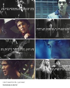 [gifset] #BellamyBlake #Bellarke theres a video with this song. pretty cool!