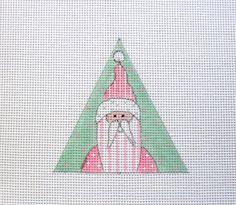 $11.95          Shabby Pink Santa w/Stripes Handpainted by MarsyesShoppe on Etsy