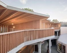 LOCALARCHITECTURE extends rudolf steiner school with technology and age-old expertise Rudolf Steiner, Cow Shed, Skylight Window, Floor Plan Drawing, Timber Buildings, Best Architects, Prefabricated Houses, Concrete Structure, Construction Process